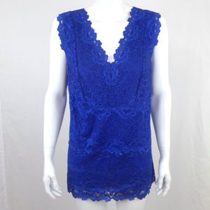 INC International Concepts Lace Tank sz 2X D4